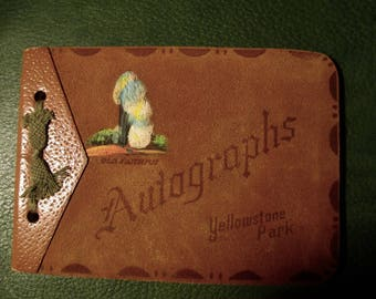 Vintage Autograph book from Yellowstone Park  1951
