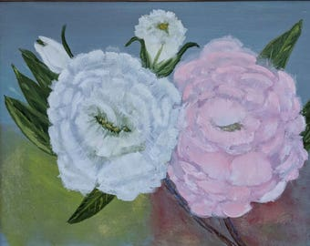 Coming Up Roses - Oil Painting - Home Decor