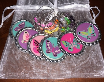 Butterfly Drink Charms