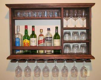 Mini Bar 25 1/2 x 24 Black Stain wine rack