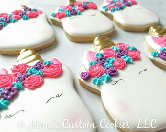 Unicorn Decorated Cookies availible in 3 SIZES!!
