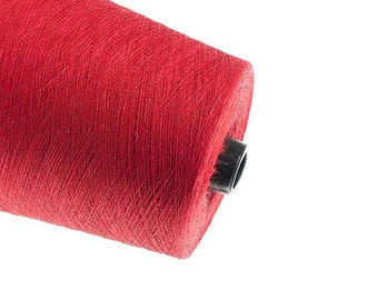 Red linen  yarn thread flax 1ply 2ply  3ply yarn weaving crochet yarn