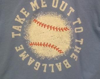 tshirt. take me out to the ballgame shirt.
