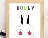 Printable.Wall Art.Bunny ...