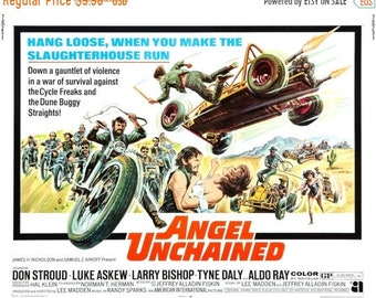 Spring Sales Event: Angel Unchained Movie POSTER (1970) Thriller/Indie