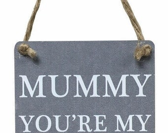 Mummy you're my favourite superhero hanging wall plaque
