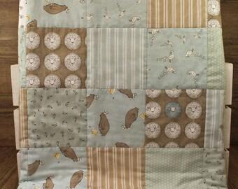 Baby quilt - Ducks, Bears & Sheep