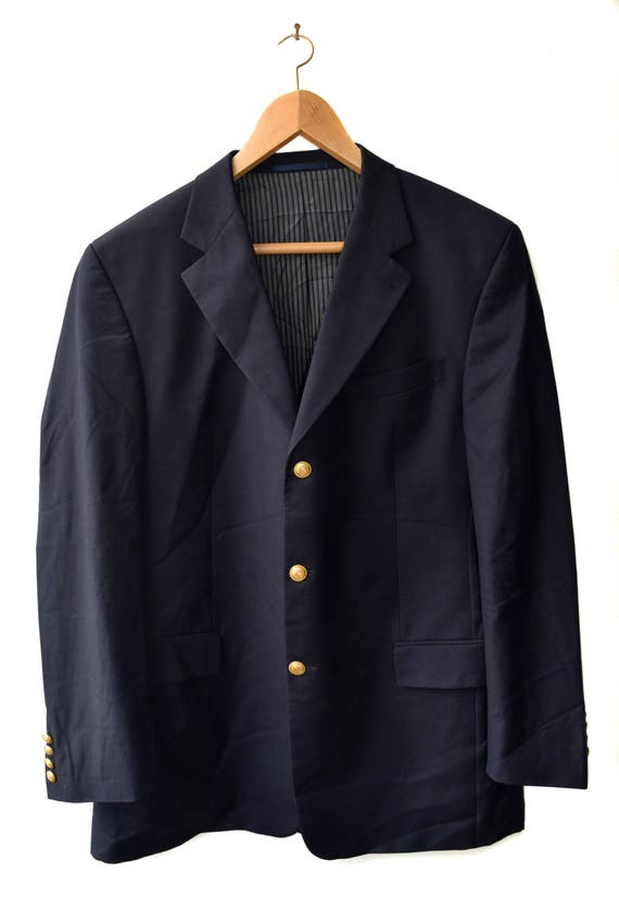 blazer buttons blazer Vintage jacket in coat Made Wool gents Italy blazer Men Formal Suit Golg Sport Mens xPXWzw