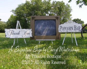 Large Easel | Wooden Easel | Easel for Wedding Signs | Wedding Easel | Table Easel | Display Easel | Display for Wedding Signs | Shabby Chic