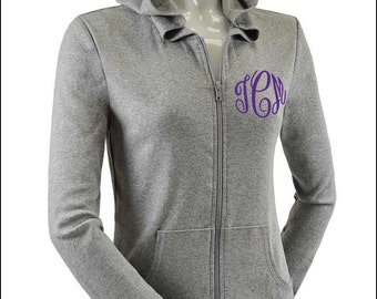 Bridesmaid Monogram Light Weight Womens Jacket--Bridal Party Bride-- Customized with several color options