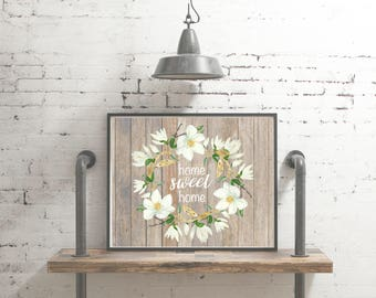 "Farmhouse Style ""Home Sweet Home"" Magnolia Printable"