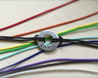 Personalized Elastic Washer Bracelet