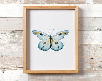 Butterfly Print/ Printable Art/ Butterfly Wall Art/ Boho Decor/ Boho Print/ Watercolor Print/ Butterfly Decor/ Insect Print/ Insect Poster