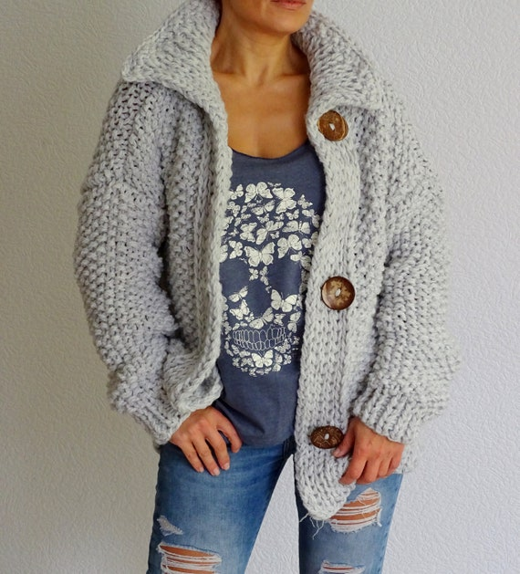 knit bulky wool sweater knit cardigan cardigan knit cardigan alpaca to wool order cardigan knit coat made bulky jacket oversized 8nqrwqAx0F