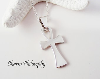 Ankh jewelry etsy ankh necklace 925 sterling silver jewelry silver ankh pendant egyptian hieroglyph jewelry meaning aloadofball Images