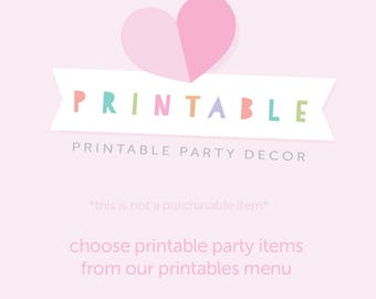 Party Printables placeholder