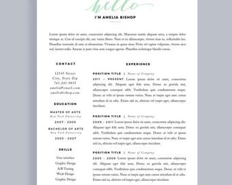 Resume template for word modern resume cv one page resume simple resume simple cv template minimal resume resume 1 page resume template yelopaper Gallery