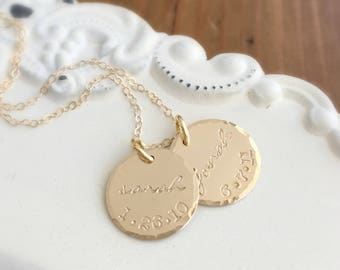 Mothers Necklace . Childs Name . Personalized Necklace . Birthdate Necklace . Baby Shower Gift . Mothers Day . Gift for Mom . New Baby