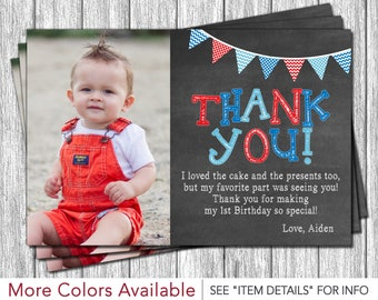 1st birthday thank you cards etsy first birthday thank you card 1st birthday chalkboard thank you card bookmarktalkfo Image collections