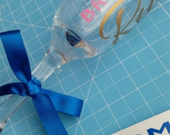 ADD ON ITEM - Bows for Personalised Wedding champagne flutes/glasses, complete with name and role