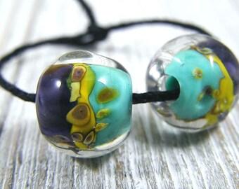 Handmade Lampwork Beads - Earring Pairs ~ Malina  ~Southwest-Boho-Earring Pairs