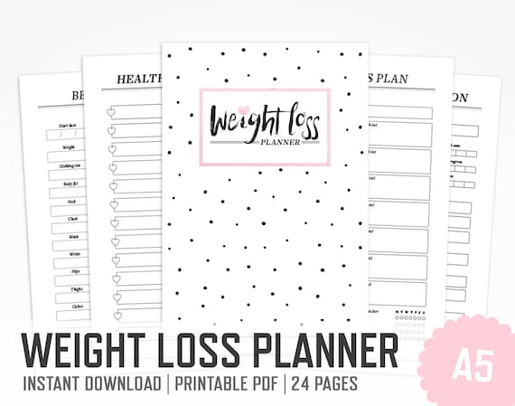 weight loss planner a5 work out planner fitness lifestyle
