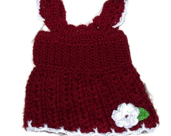 Tank Top Dress, Size 3 Months, Flower Applique, Baby Girl's Summer Clothing