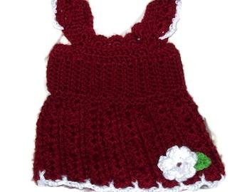 Baby Girls Crochet Tank Top  Dress Top Size 3 Months Flower Tank Top