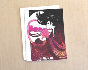 The Way We Dream - Morpheus Sandman inspired A2 Blank Notecard