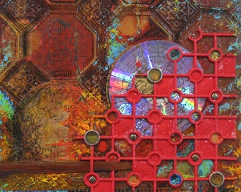 Time Passage III; original mixed media collage