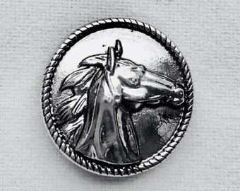 Silver Horse Snap Charm