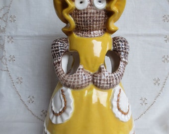 "Vintage Sittre Ceramic ""Ragdoll"" Utensil Holder - Weird and Wonderful"