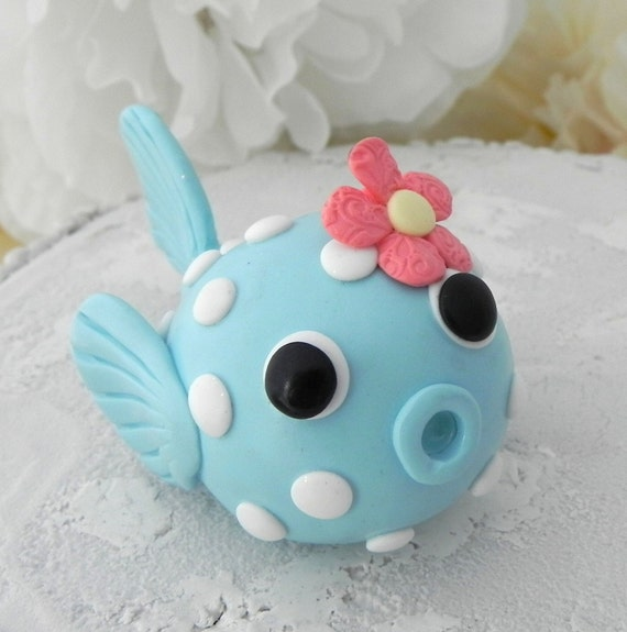 Baby Puffer Fish Cake Topper, Birthday or Baby Shower, Keepsake, Nursery Decor