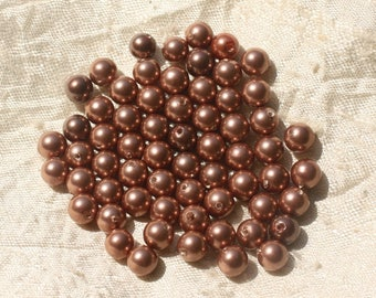 10pc - copper pearl beads 6mm 4558550020758 balls
