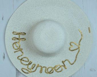 Serafina 'Honeymoon' Wide Brim Floppy Sun Hat