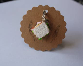 Charm's sandwich vegetables realistic polymer clay