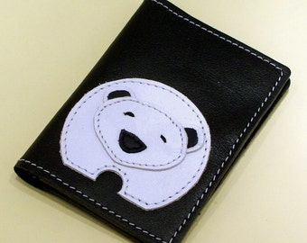 Credit Card Wallet For 4 Credit Cards With Cute Polar Bear