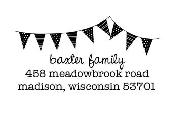 bunting rubber address stamp