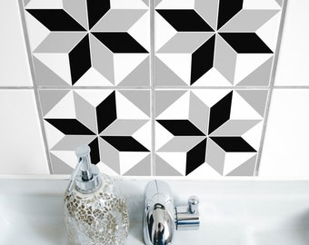 """TILE STICKERS - set of 4 - """"POLYGON 05"""""""