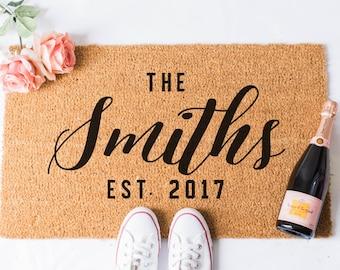 Custom Last Name Doormat - Door Mat - Custom Doormat - Personalized Doormat - Personalised Doormat - Gift for Married Couple - Custom Mat