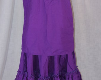 Vintage H BAR C California Ranchwear Purple Polyester Blend Peasant Square Dancing Blouse Skirt Dress Size Large