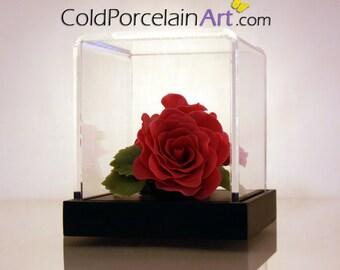 Deep Pink Rose - ColdPorcelainArt - Made to Order