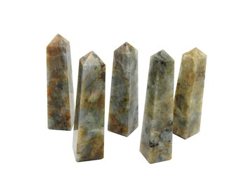 Labradorite Tower Obelisk Point - Wire Wrapping - Chakra - Reiki - Crystal Grids - Energy Balancing (RK65B17)