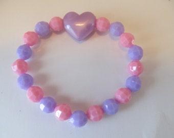 Valentine Heart Beaded Bracelet-Birthday Gift-Valentine Gift-Girls Bracelets-Kids Bracelets-Gifts for Girls-Gifts for Kids