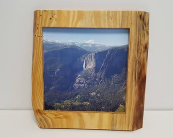 Live Edge Picture Frame 10 x 10 Natural Finish