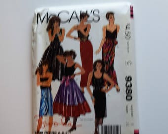 Vintage 1980s McCalls 9380 skirts and sash sewing pattern