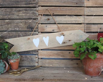 """Heart"" wood arrow"