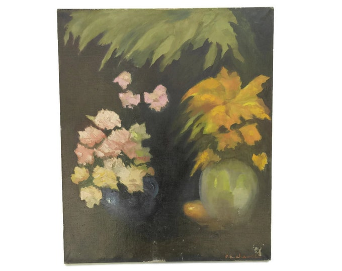 Flower Still Life Painting by Pierre Chauvet. Original Art French Still Life with Flowers.