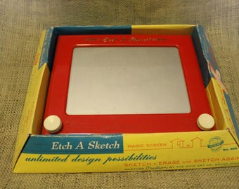 Vintage Etch A Sketch with Orginial Box