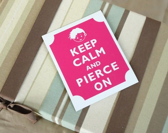 Keep calm pierce on fridge magnet